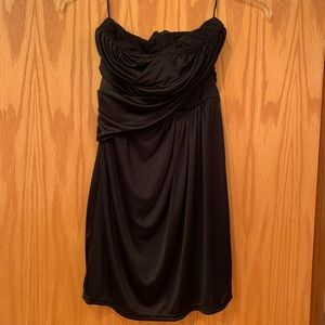 Black Strapless Party Dress